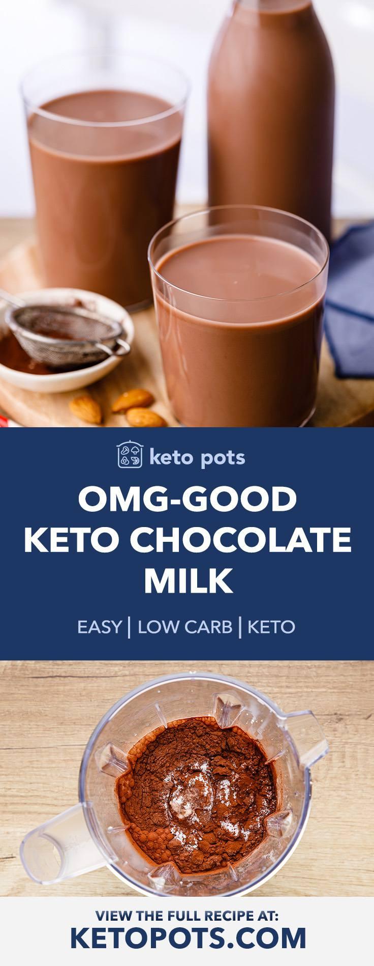 OMG-Good Homemade Keto Chocolate Milk