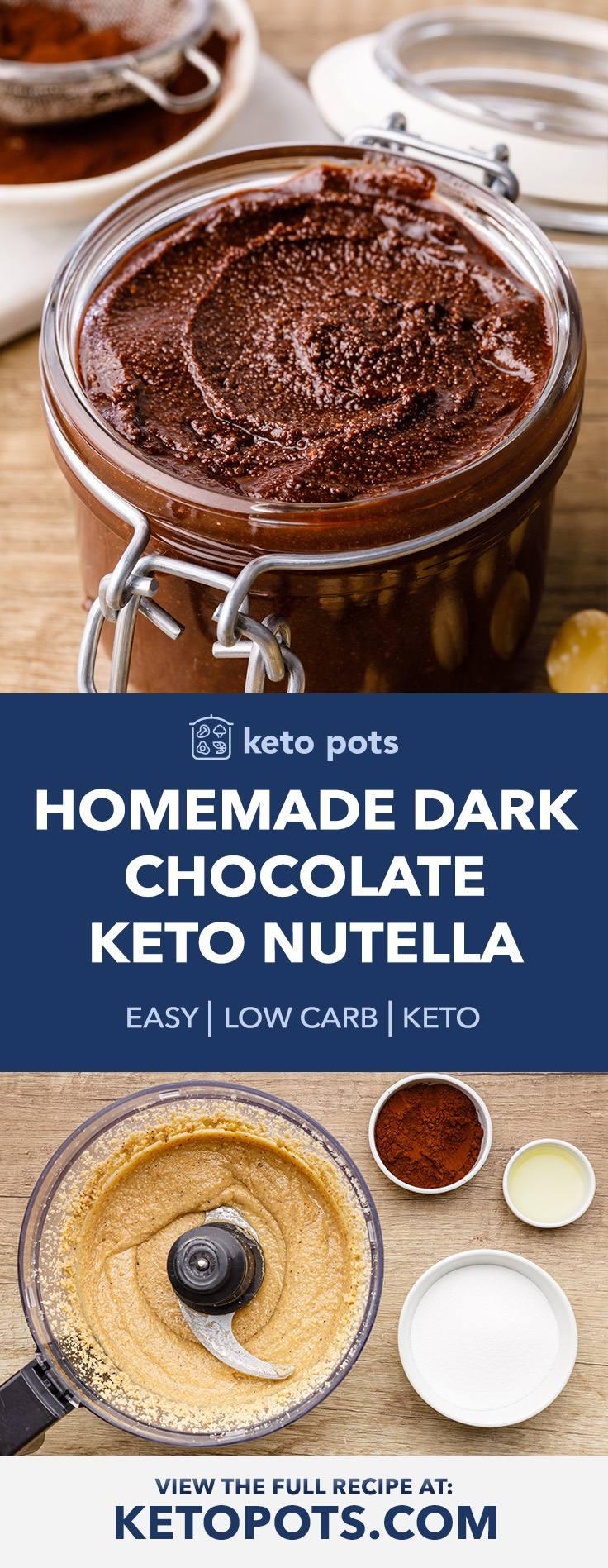 Homemade Dark Chocolate Keto Nutella