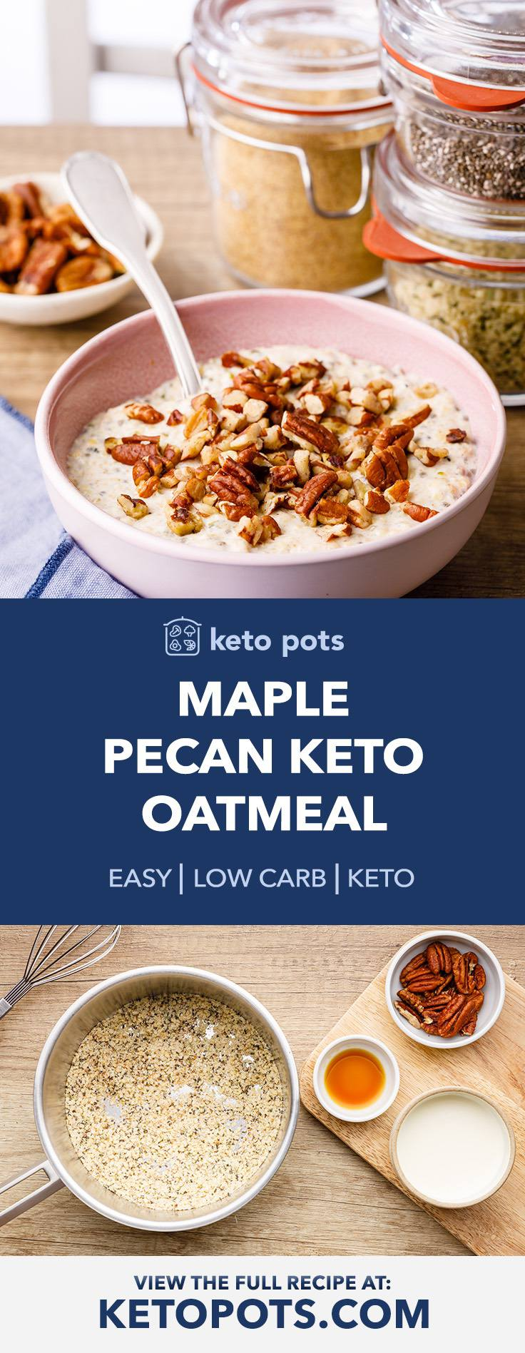 Crave-worthy Maple Pecan Keto Oatmeal