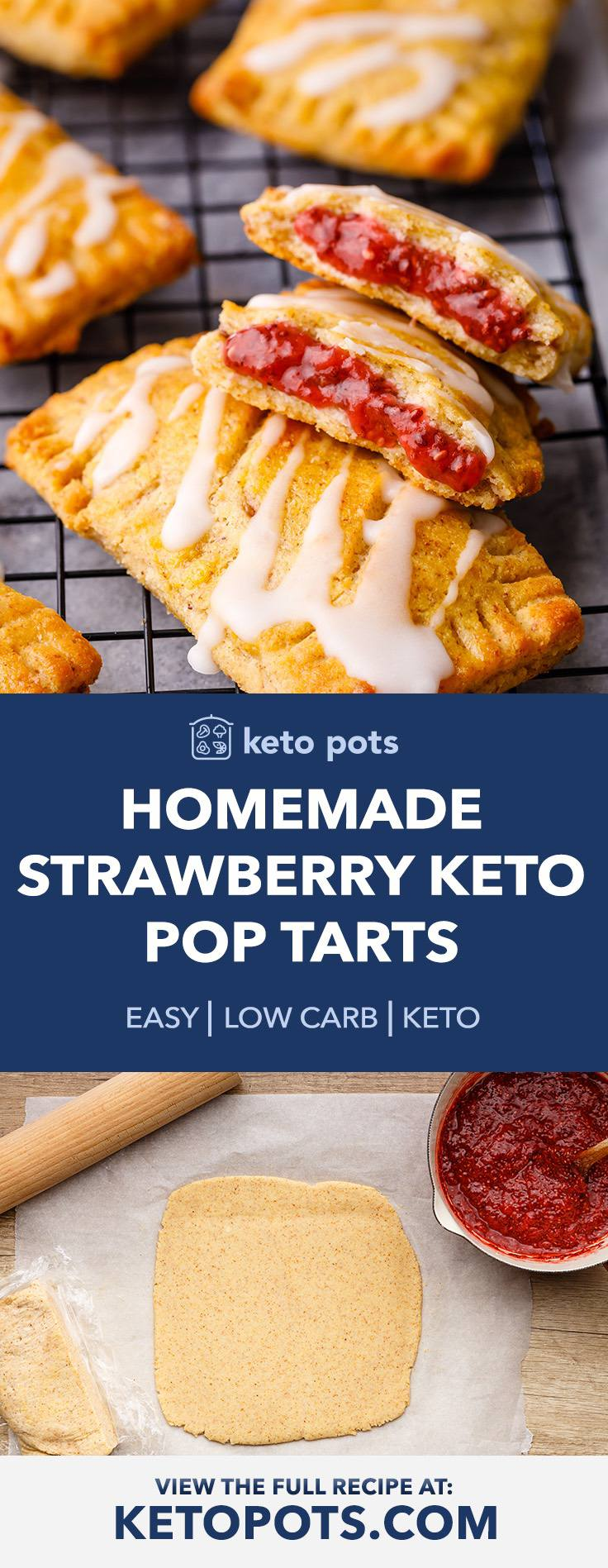 Homemade (And Low Carb) Keto Strawberry Pop Tarts