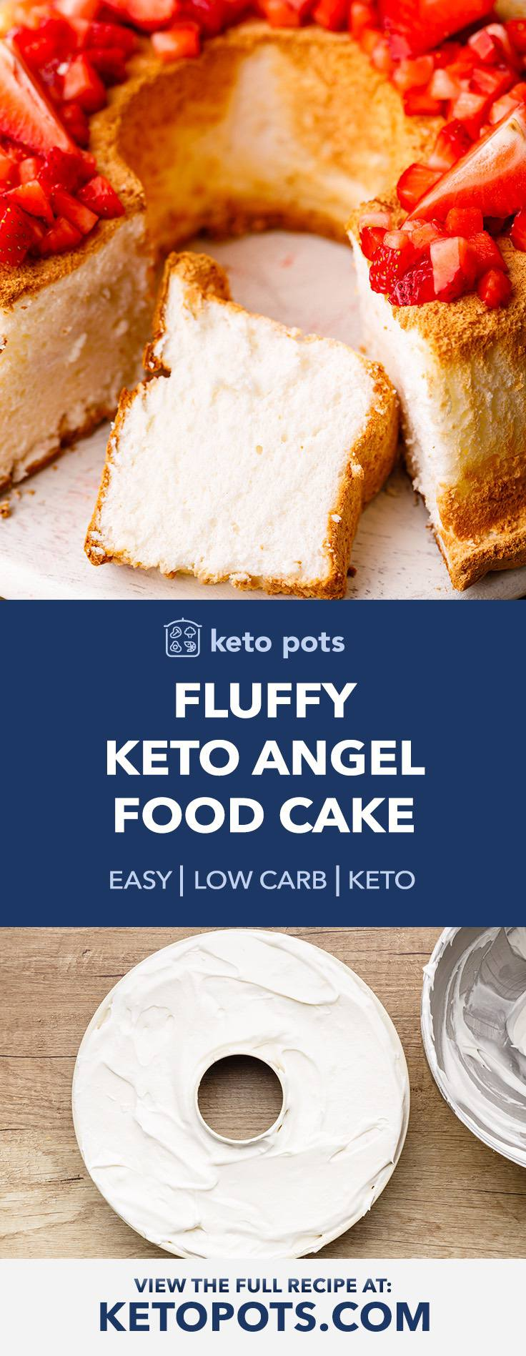 Bouncy (And Fluffy) Keto Angel Food Cake