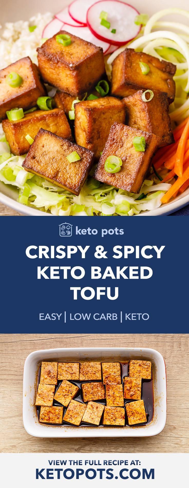 Crispy (And Spicy) Keto Baked Tofu
